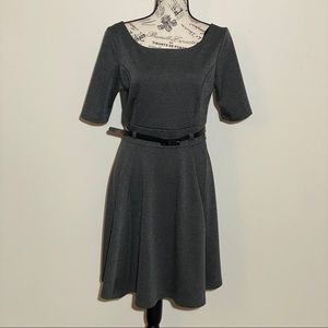 Just Ginger Fit and Flare Grey Dress Size Large